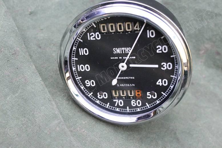 SMITHS S467/163/N 1550 120 MPH  chronometric speedometer S 467 / 163/N