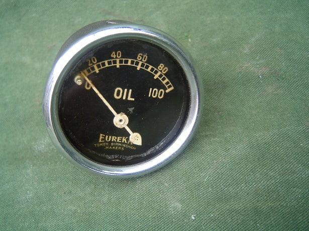EUREKA 100 Lbs olie druk meter oil pressure gauge 41 mm
