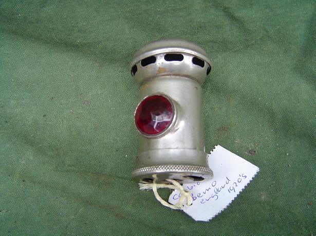 BEMO carbid achterlichtje taillamp rucklicht england