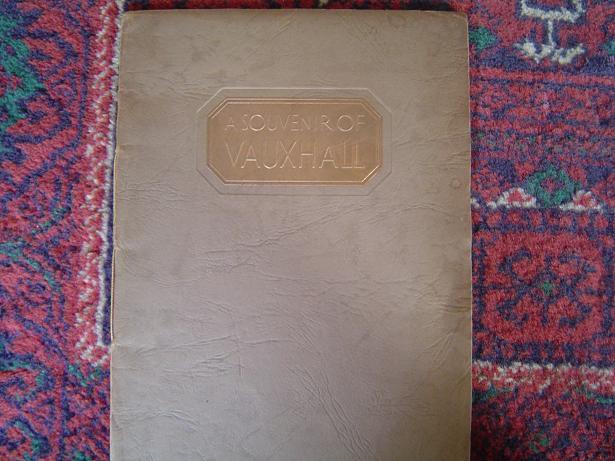A SOUVENIR of VAUXHALL 1936 visit of factory VAUXHALL MOTORS