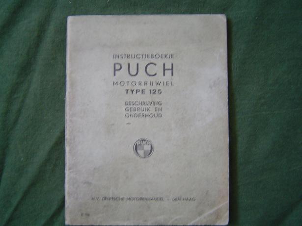 instructieboekje PUCH 125 1938 ?