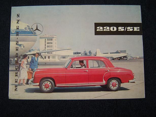 MERCEDES 220 S / SE 1959 ? prospect folder