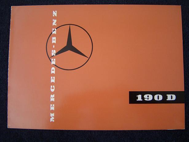 MERCEDES BENZ 190 D 1959 ? folder prospekt