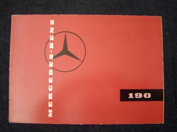 MERCEDES BENZ 190 1960 's ?? folder prospekt