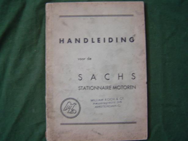 SACHS handleiding stationaire motoren 1939 STAMO