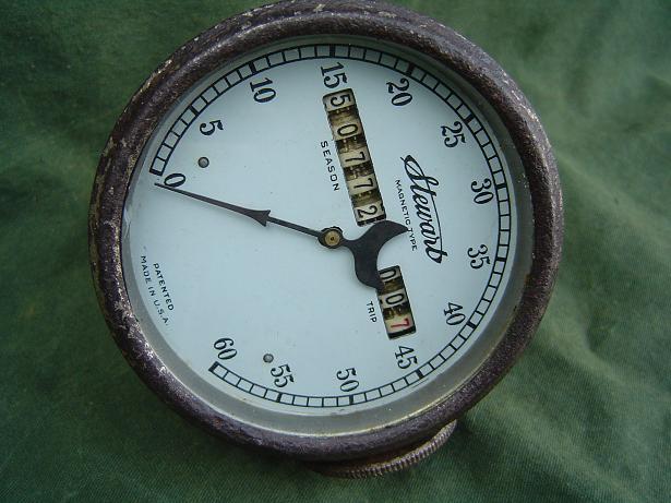 STEWART 60 miles speedometer teller tachometer 1920's ?