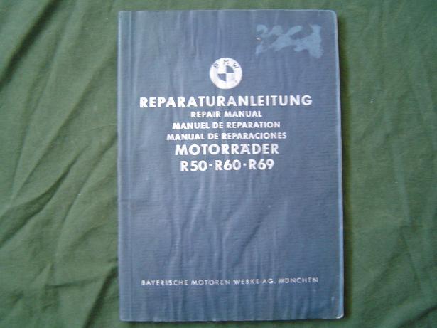 BMW motorrad R50 R60 R69 1958 reparaturanleitung