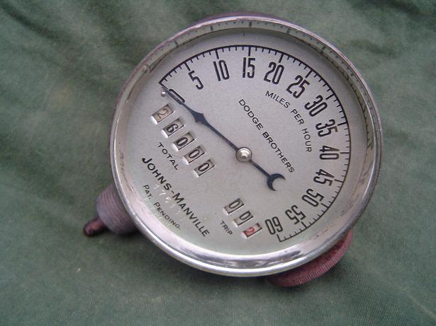 JOHNS MANVILLE speedometer tacho teller 1920 / 30 's DODGE