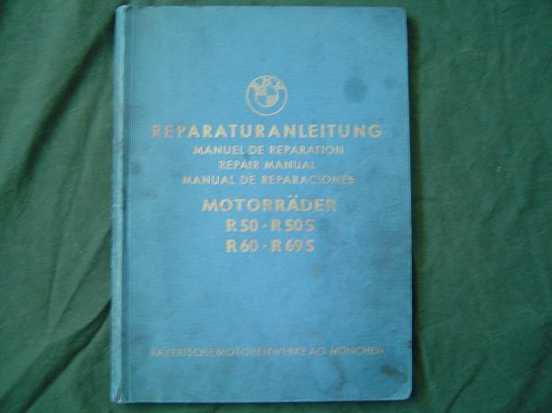 BMW motorrader 1963 R50 R50S R60 R69S reparaturanleitung