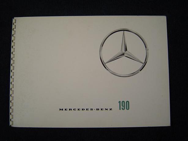 MERCEDES BENZ 190 1959 ? folder prospekt