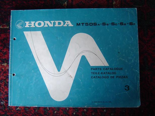honda mt 50 s 1985 parts cataloge simons old motorcycle. Black Bedroom Furniture Sets. Home Design Ideas