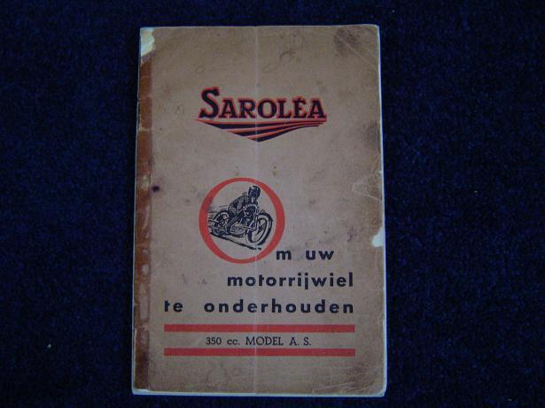 SAROLEA 350 cc sv model AS handleiding 1930 's