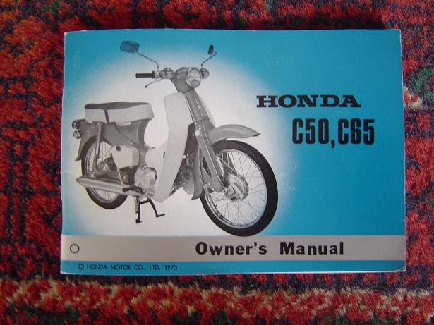 HONDA C 50 C65 owners manual 1973