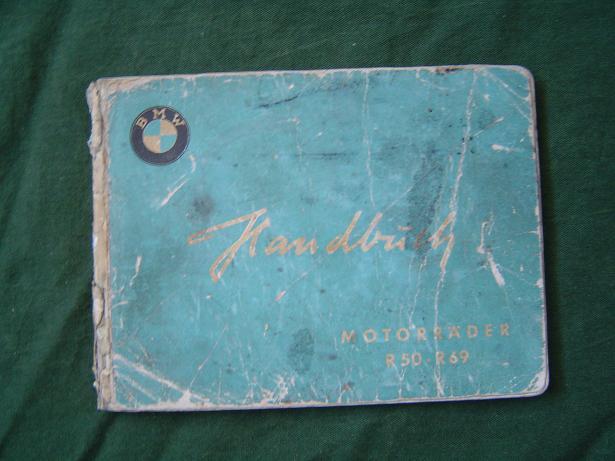 handbuch BMW R50 R69  1955