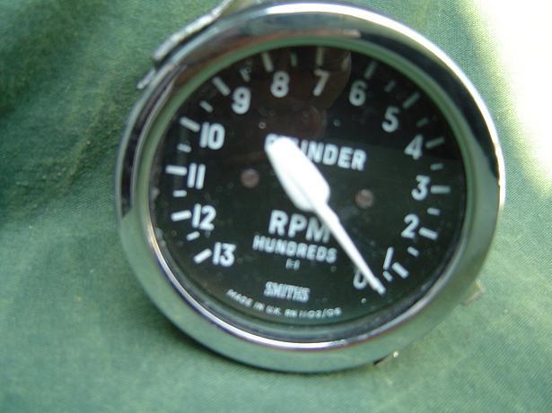 SMITHS toerenteller 1300 RPM anticlock rev counter