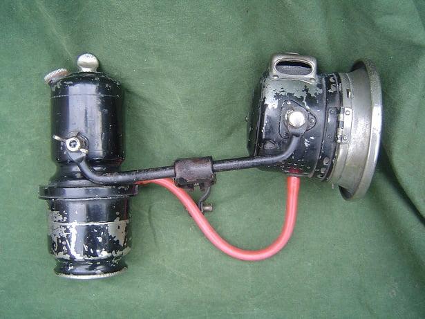 JOSEPH LUCAS 1926 no. 32 acetylene set carbidlamp set light motorcycle / bicycle HELD