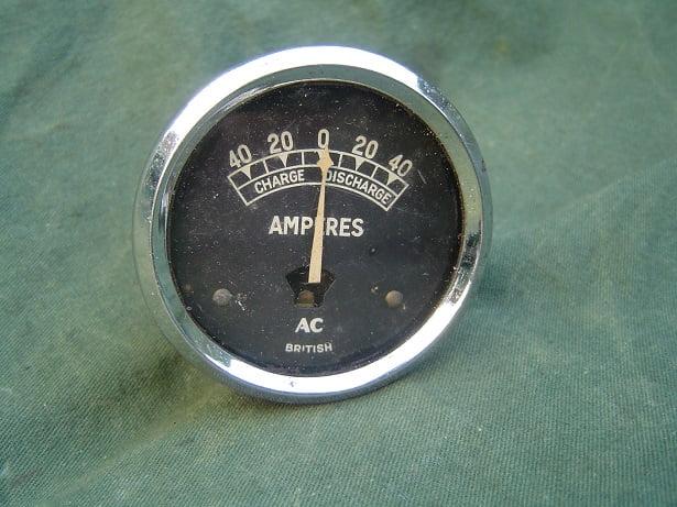 BRITISH AC  40 – 40 ampere meter ammeter