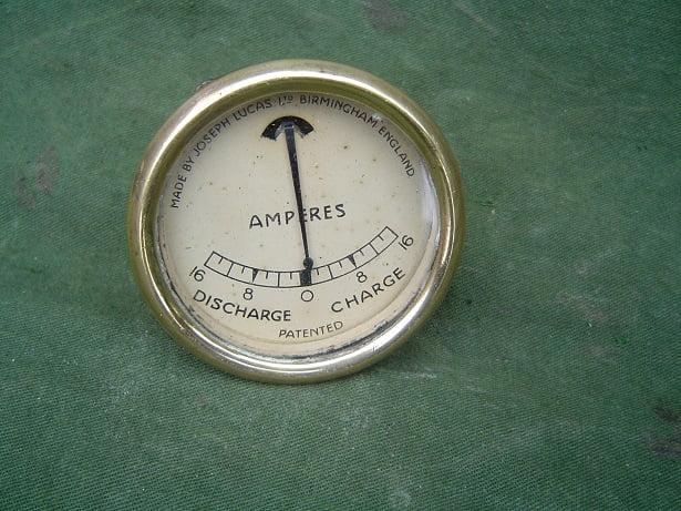 JOSEPH LUCAS 16 – 16 ammeter ampere meter type B.M.I. amperemeter