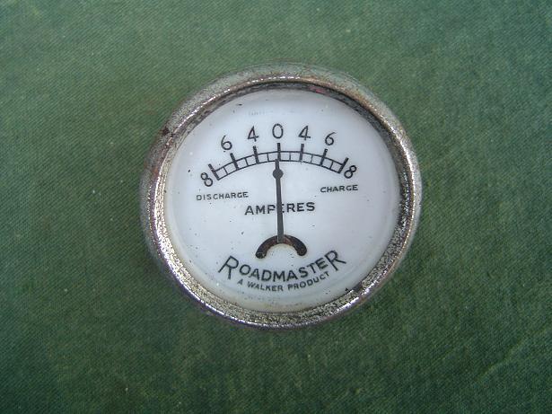 ROADMASTER  8-8 ampere meter ammeter 1950's ??