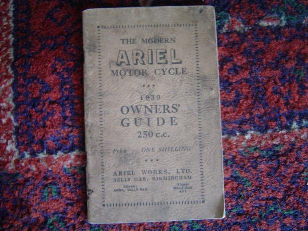 ARIEL 250 cc 1930 owner's guide