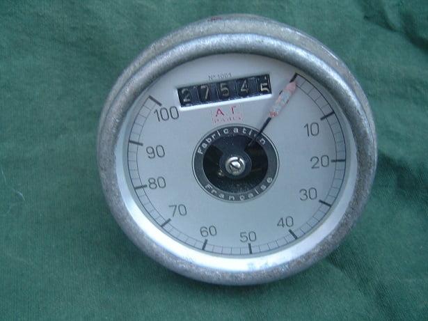 AT 100 KM kilometer teller speedometer tacho meter 1930's France