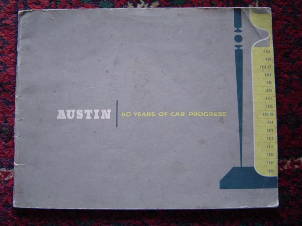 AUSTIN 50 years of car progress 1905 – 1955