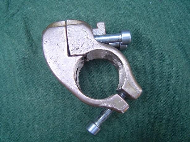 HELLA mirror spotligth bracket  in bronze 1940 suchlampe klemme