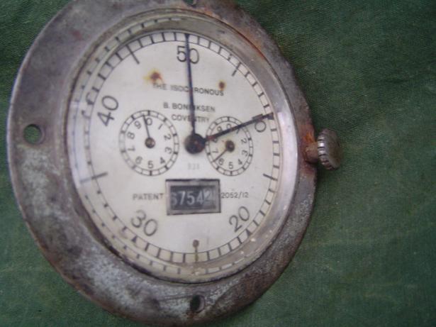 BONNIKSEN coventry the isochronous  60 miles teller speedo tacho 1920 's