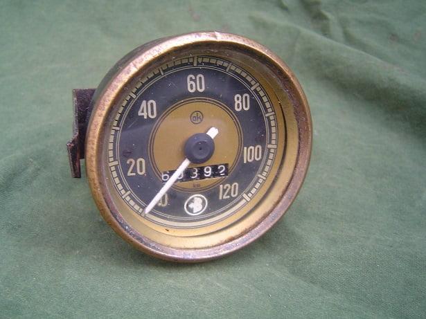 Bastert ?  OK 120 KM teller 1953 tacho speedo meter