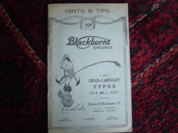 BLACKBURNE engines 1930 the cross -camshaft types 175 en 200 cc