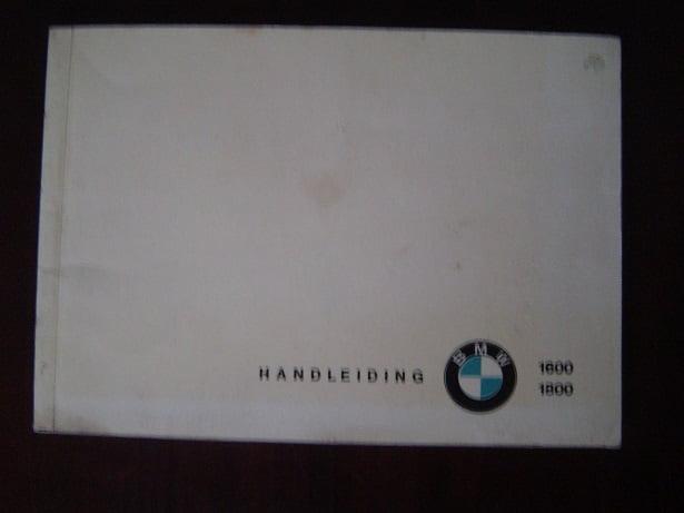 BMW 1600 1800 1965 auto handleiding / instructie boekje