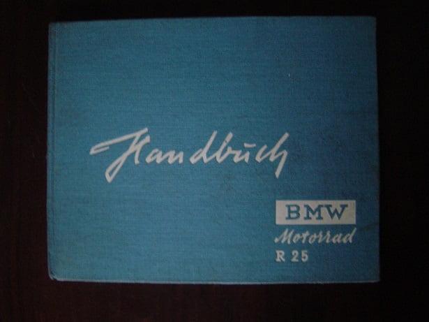 BMW  R25   1951  handbuch  motorrad  R 25