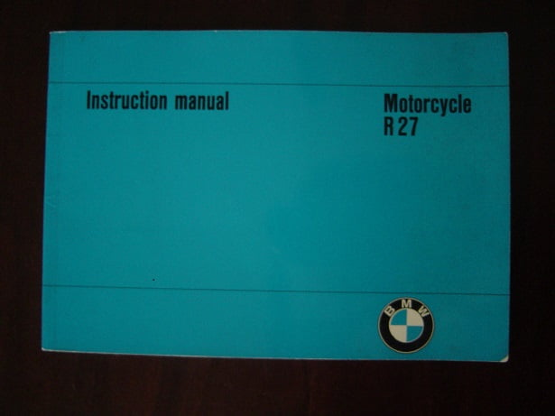 BMW R27  1966 motorcycle instruction manual 250 cc R 27