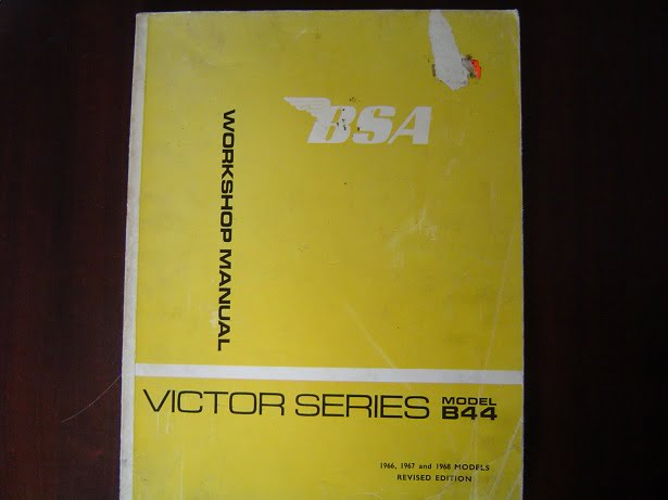 BSA VICTOR series  B 44 ENDURO , SPECIAL 1966 – 1968 workshop manual