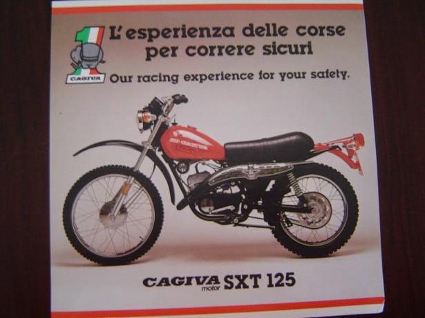 CAGIVA ST 125  SXT125 folder prospect