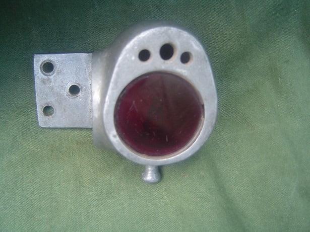 acetylene  1920's rearligth achterlicht aluminum aluminium