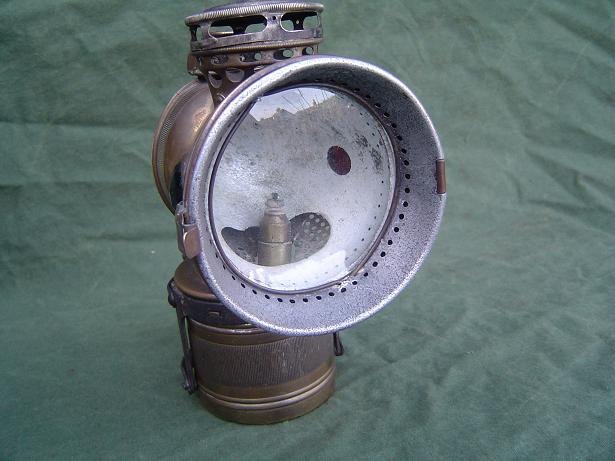 20 th century mgf. co carbid lamp acetylene lamp 1920's