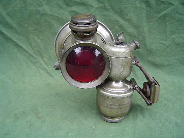POWELL en HAMMER side mount lamp zij montage carbidlamp 1920's
