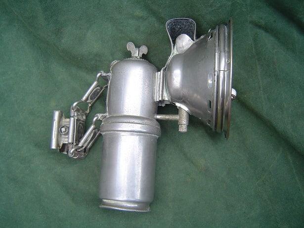 Hermann Riemann's Germania Lanterne carbid lamp acetylene lamp fiets bicycle