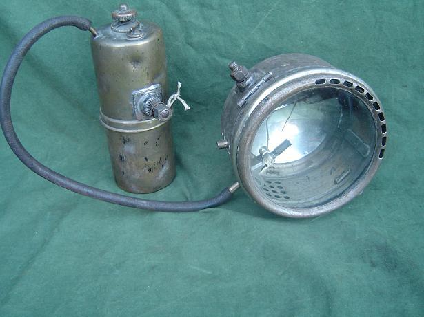 HELLA carbidlamp set acetylene set 1920's