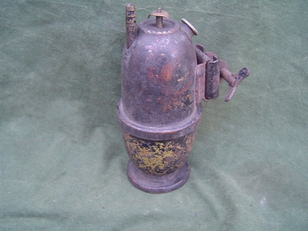 carbid potje generator England acetylene generator 1920's NOS rearlamp ??
