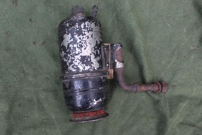 JOSEPH LUCAS No. 44  1924 acetylene generator carbid potje karbid zijspan sidecar / rearlight