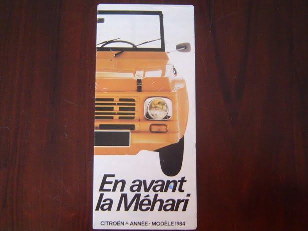 CITROËN MÉHARI  1984 folder prospect