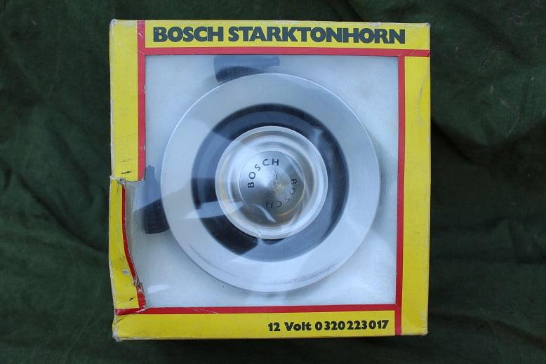 BOSCH 375 Hz high starkton 12 volts horn hupe claxon 0 320 223 017 new old stock