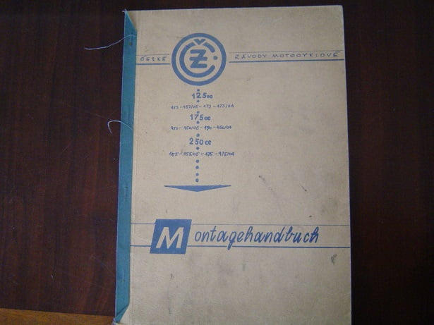 CZ 125cc 175cc 250cc montagehandbuch typ 453 450 455