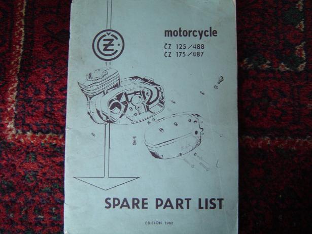 CZ 125 / 488 en CZ 175 / 487   1982 spare parts list