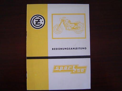 CZ sport 250 type 471  1974 bedienungsanleitung