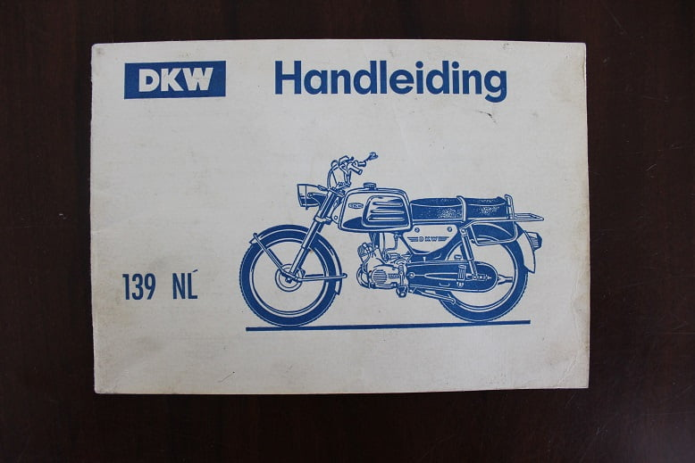 DKW 139 NL bromfiets handleiding 3 en 4 versnelling