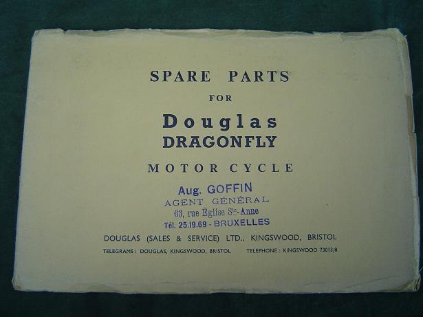 DOUGLAS  DRAGONFLY   1955  spare parts list