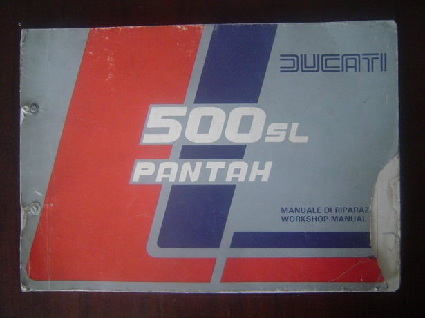 DUCATI  500 SL PANTAH  1979 workshop manual